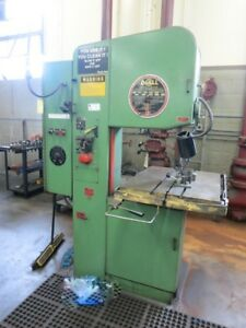 Doall Model 2012 a 20 Vertical Metal Band Saw W Blade Welder 1 Capacity