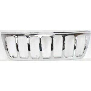 Chrome Grill Assembly For 1999 2003 Jeep Grand Cherokee Grille Ch1200221