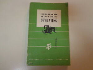 Lithographic Offset Press Operating 1956 Typography Printing Machinery