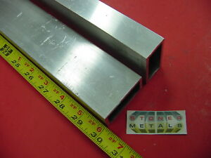 5 Pieces 1 x 2 x 1 8 Wall Aluminum Rectangle Tube 30 Long 6063 T52 Tubing
