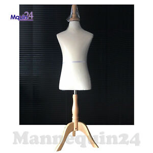 Kids Body Form Mannequin 6 7 Yr Child Torso Dress Form With Wooden Base