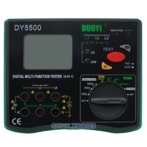 Dy5500 Dc1000v Digital Lcd Multi Earth Ground Resistance Tester Meter 0 01 2000