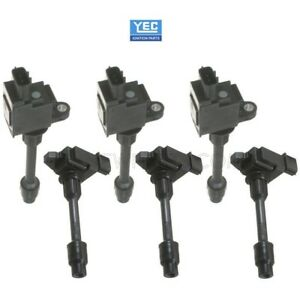 Complete Set Of 6 Direct Ignition Coils Yec For Infiniti I30 Nissan Maxima 2000