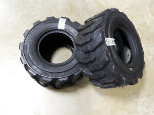 Two 18x8 50 8 Bkt Skid Power Compact Tractor Tires Heavy Duty Indstrl 8 Ply R 4
