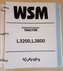 2010 Kubota L3200 L3800 Tractor Workshop Service Manual