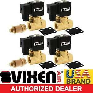 1 2 Npt Solenoid 4pk W two Slow Down Dump Valve Suspension air Ride 12v 250psi