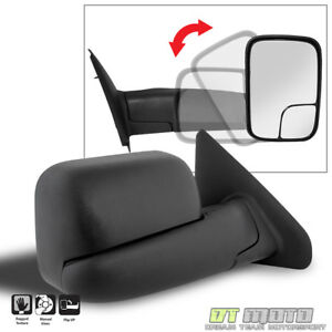 Right Passenger Side 2002 08 Dodge Ram 1500 03 09 2500 3500 Tow Manual Mirror