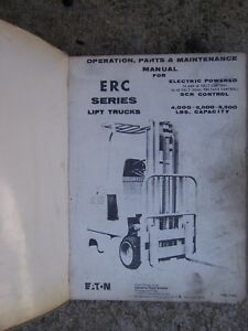 1975 Yale Erc Series Electric Fork Lift Truck Maintenane Parts Manual V
