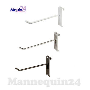 Gridwall Hooks For Grid Wall 6 Black White Or Chrome Free Shipping