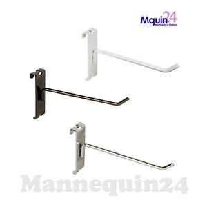 Gridwall Hooks For Grid Wall 8 Black White Or Chrome