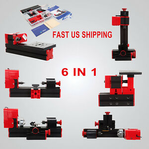 Motorized Mini Metal Lathe Machine Model Turning Making Woodworking Diy Tool