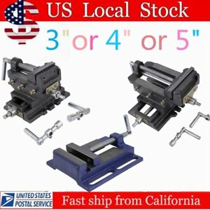Cross Slide Vise 3 4 5 Wide Drill Press X y Clamp Milling Heavy Duty 2 Way Se
