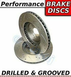Vw Scirocco 2 0 Tsi 9 08 6 10 255mm Drilled Grooved Sport Rear Brake Discs
