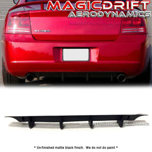 For 05 10 Dodge Charger Mdp Style Rear Bumper Lower Diffuser Lip Urethane Srt Rt