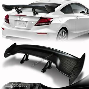 57 Real Carbon Fiber Adjustable Rear Trunk Gt Style Spoiler Wing Universal 5