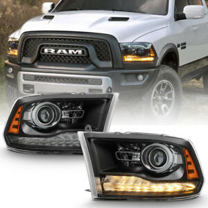 factory Style 2013 2018 Dodge Ram 1500 2500 3500 Led Drl Projector Headlights