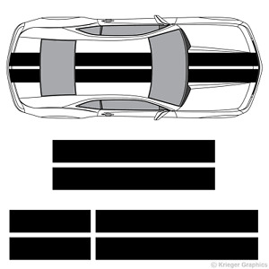 Chevy Camaro 10 Solid Racing Stripes 3m Vinyl Decal Kit 10in 10 Inch