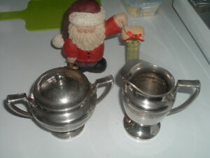 Vintage Classic Sugar Bowl And Creamer Universal Silver Plated