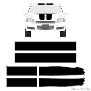 Chevy Impala Ez Rally Racing Stripes 3m Vinyl Stripe Decals Graphics