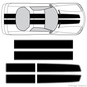 Chevy Camaro Ez Rally Racing Stripes 3m Vinyl Stripe Decals Graphics