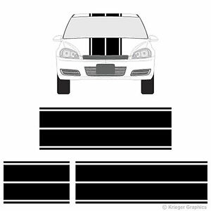 Chevy Impala Dual Rally Racing Stripes 3m Vinyl Double Stripe Decals