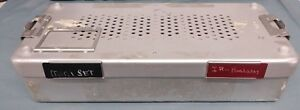 Aesculap Sterilization Container Tattoo Medical Instrument Case Stainless Lab