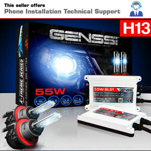 Ac 55w Hid Kit H13 9008 Bi xenon 10000k Ultra Blue White Beam Conversion Light