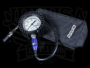 Rays Tire Pressure Air Gauge 75 Psi With Carrying Case Black Brand New