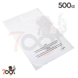 500 2 Mil 12x18 Owlpack Clear Poly Plastic Open End Suffocation Warning Fba Bag