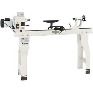Shop Fox W1758 16 X 46 Wood Lathe With Stand And Dro Floor Model