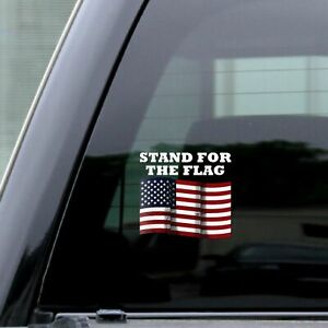 Usa Distressed Flag Stand For The Flag Sticker Vinyl Cutout Decal Rear Window 5