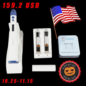 Sale Dental Wireless Obturation Endodontic Gutta Percha Pen Heat Tips Kit Cicada