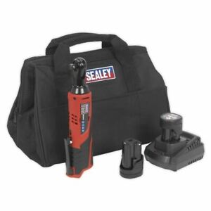 Sealey 12v Cordless Ratchet Wrench Kit 3 8 Sq Drive