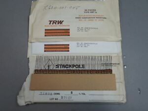 Mixed Lot Of 350 Trw 1 2 Watt Carbon Comp Resistors 24 13000 Ohm