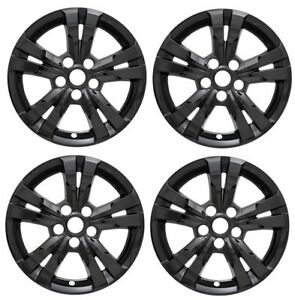 2010 2016 Chevy Equinox 17 Black Wheel Skins Hubcaps Covers Alloy Wheels Set