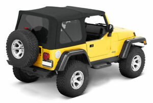 97 06 Jeep Wrangler Soft Top And Tinted Rear Windows Replacement Kit In Black
