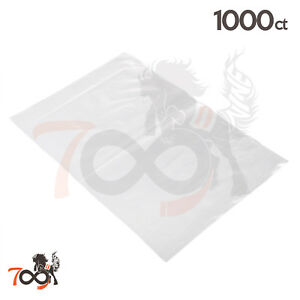 1000 2 Mil 12x18 Owlpack Clear Poly Open End No Seal Plastic Storage Bags