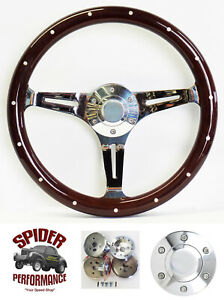 1965 1969 Fairlane Ranchero Galaxie 500 Galaxie Steering Wheel 15 Dark Mahogany