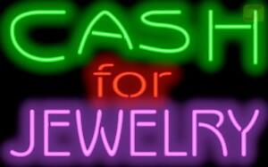 Cash For Jewelry Neon Sign 32x20 Pawn Shop Jewelry Store Gold Silver Jantec Usa