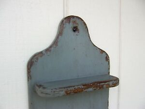 Primitive Rustic Painted Country Wall Shelf Display Farmhouse Decor Shelves