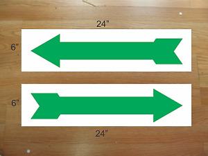 Arrow Green 6 x24 Real Estate Rider Signs Buy 1 Get 1 Free 2 Sided Plastic