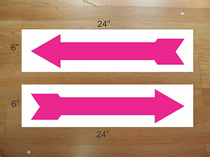 Arrow Hot Pink 6 x24 Real Estate Rider Signs Buy 1 Get 1 Free 2 Sided Plastic