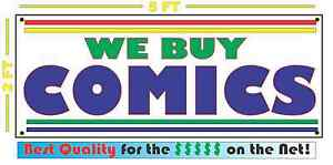 We Buy Comics Banner Sign New For Comic Book Or Pawn Shop