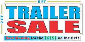 Full Color Trailer Sale Banner Sign All Weather New Xl Larger Size