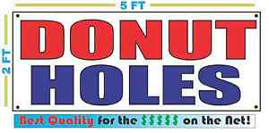 Donut Holes Banner Sign New Red Blue