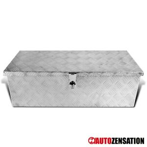 30 Heavy Duty Aluminum Tool Box Truck Storage Trunk Trailer Organizer W Lock