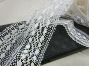 Vintage Lot Of 10 Yds Of Dotted Lace 1 Wide L 138
