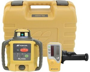Topcon Rl h4c Self Leveling Rotary Laser Level Ls 80l Receiver Alkaline Battery