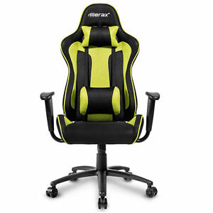 Merax High Back Ergonomic Fabric Office Racing Car Chair Recliner Gaming Chair