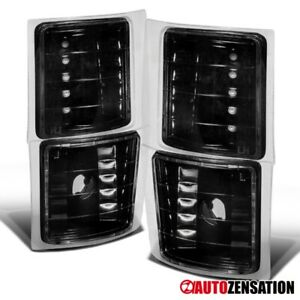 For 94 98 Chevy C k C10 Silverado Tahoe Suburban Black Corner Signal Lights Lamp